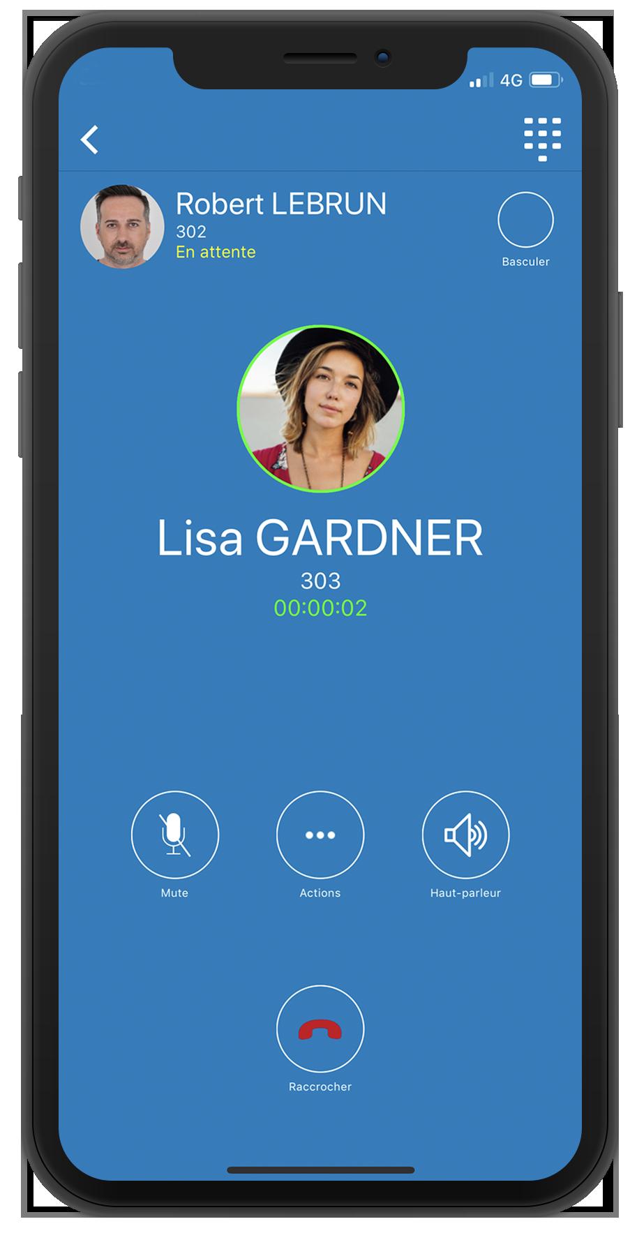 Transfert appel, conférence softphone mobile WeeVo Phone