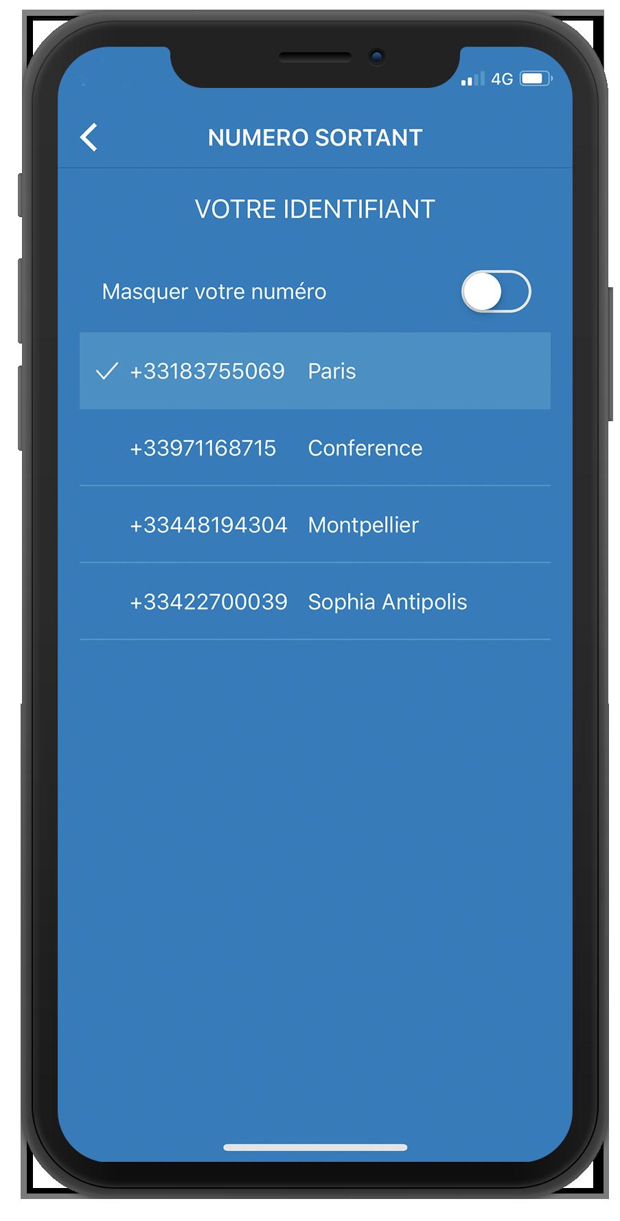 Modifier affichage appel présenté softphone mobile WeeVo Phone